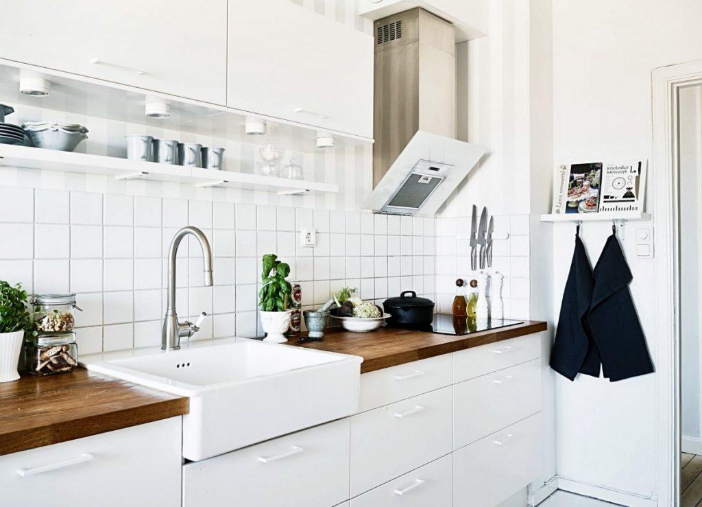 Белый дизайн кухни