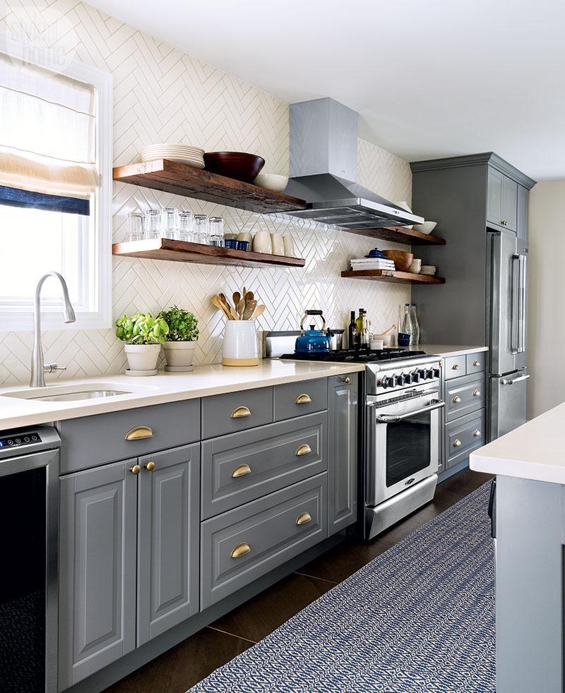 Дизайн кухни с плиткой 2017