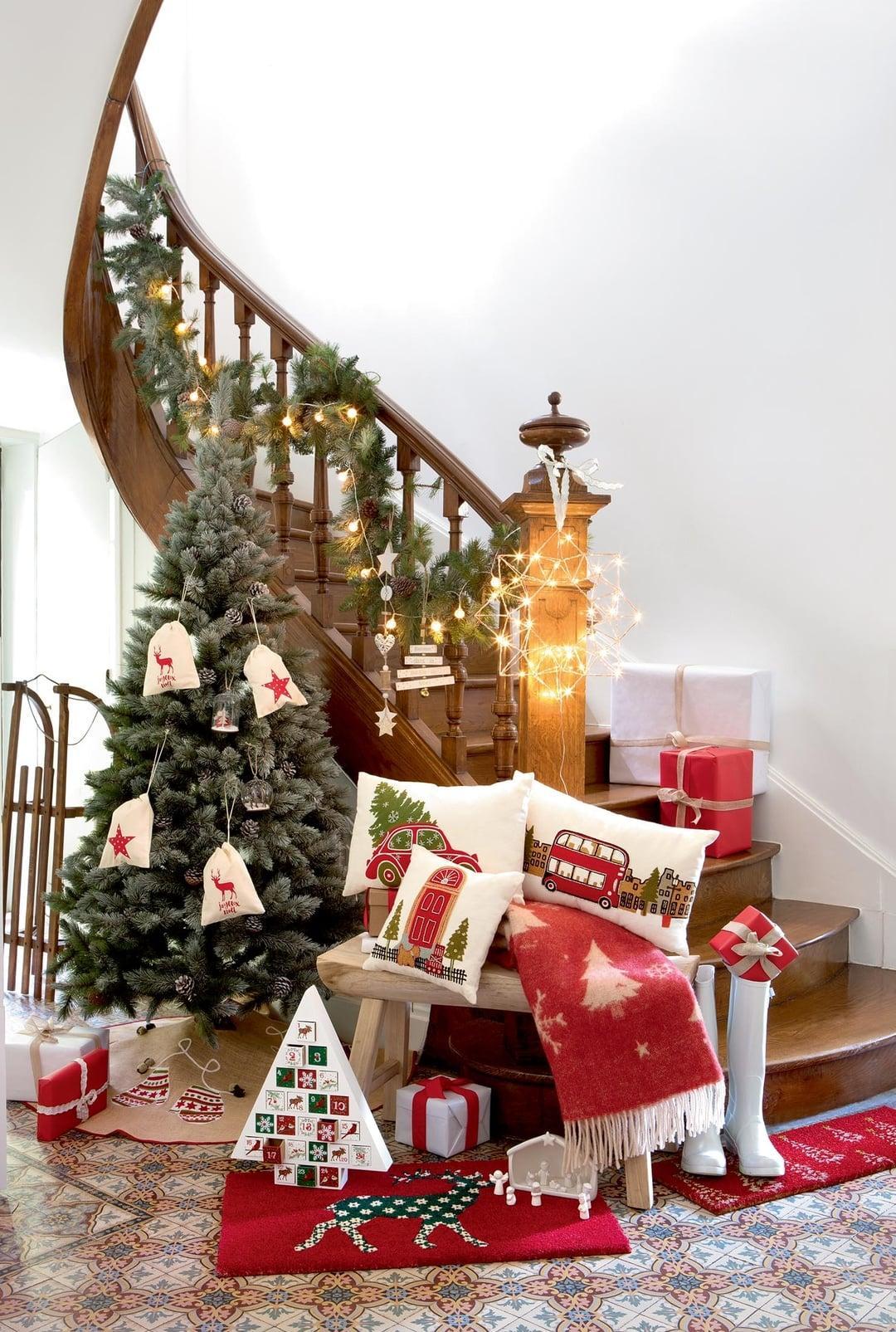 Оформление новогодней елки в стиле эко