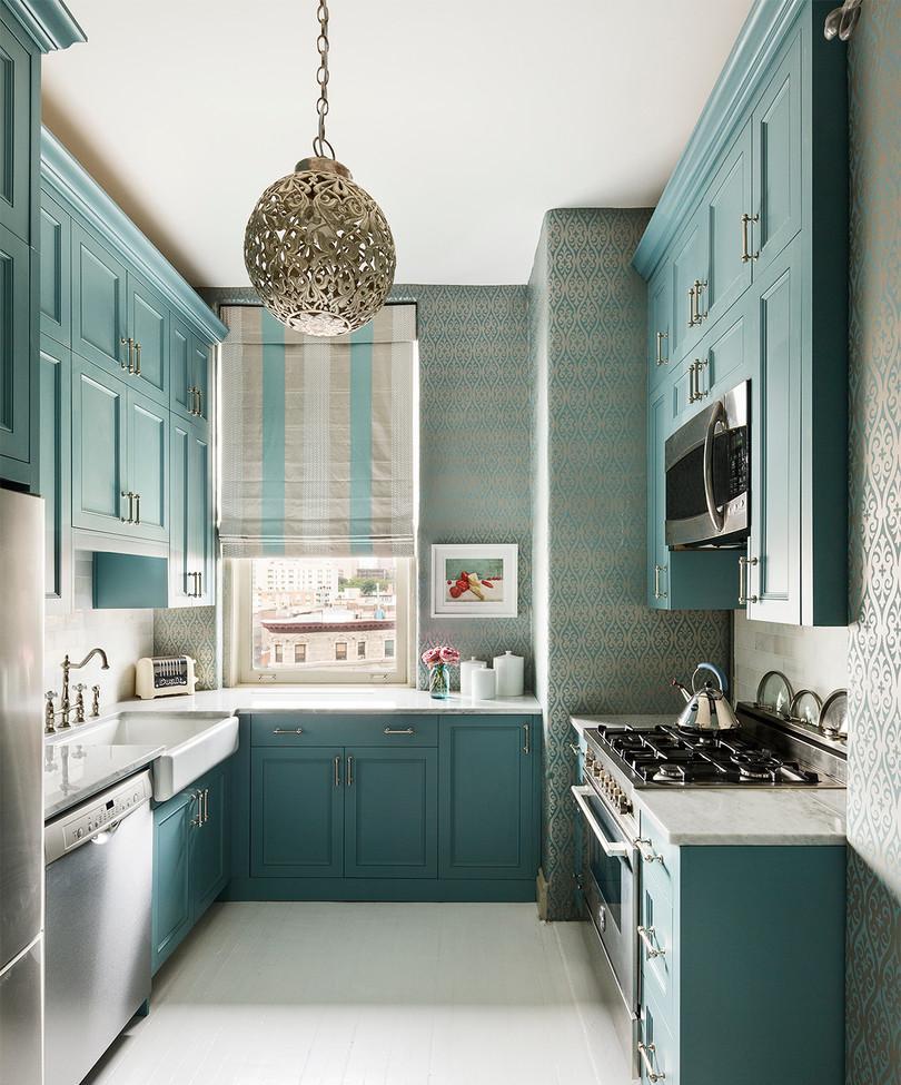 Люстра в восточном стиле на кухне