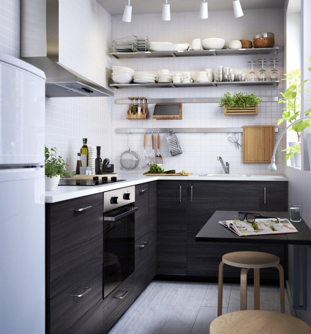 Кухня 7 кв м венге