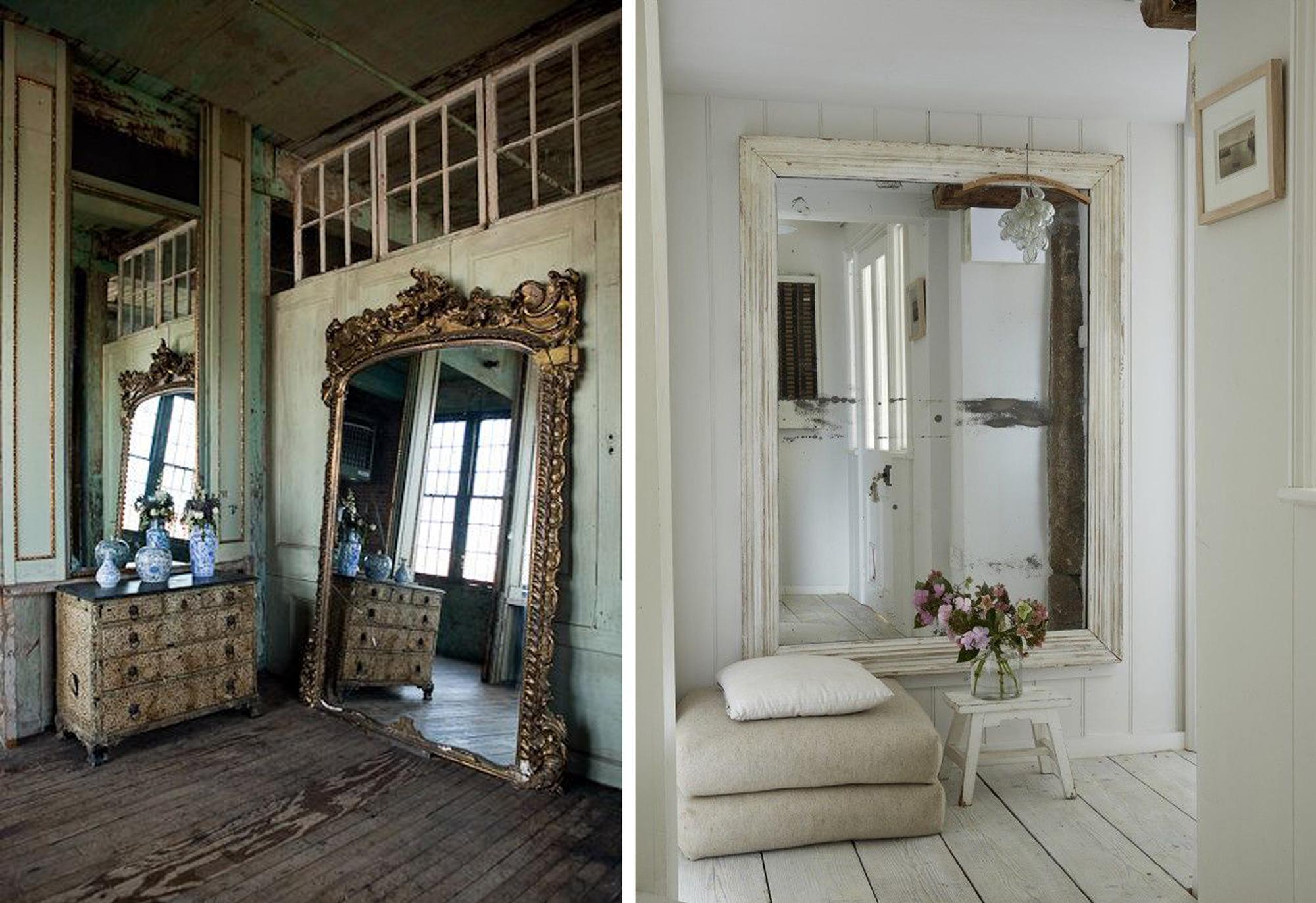 Большие зеркала в интерьерах