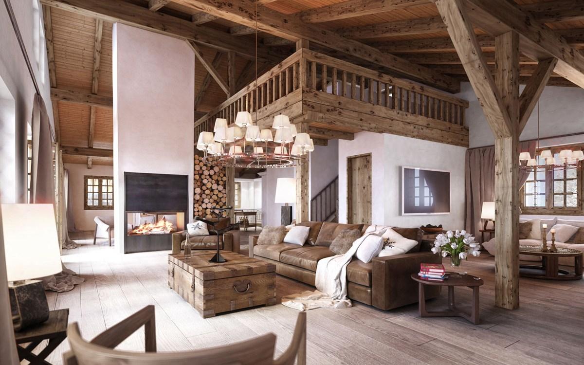 Дом в стиле шале с декором