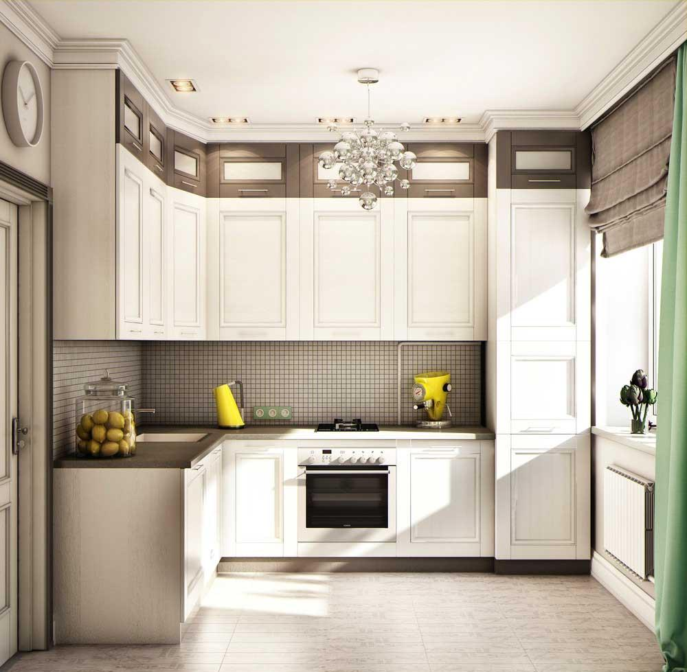 Кухня в черно-белых тонах