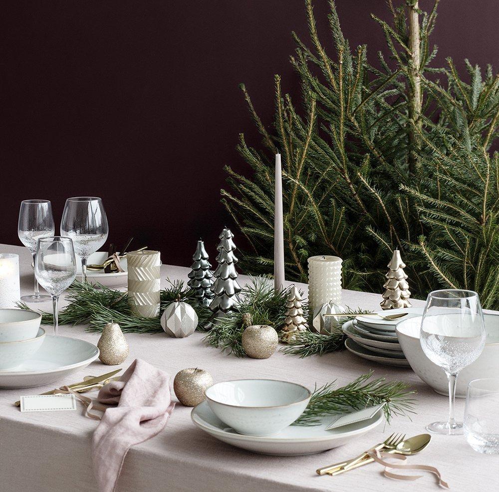 Украшение новогоднего стола 2020 свечами