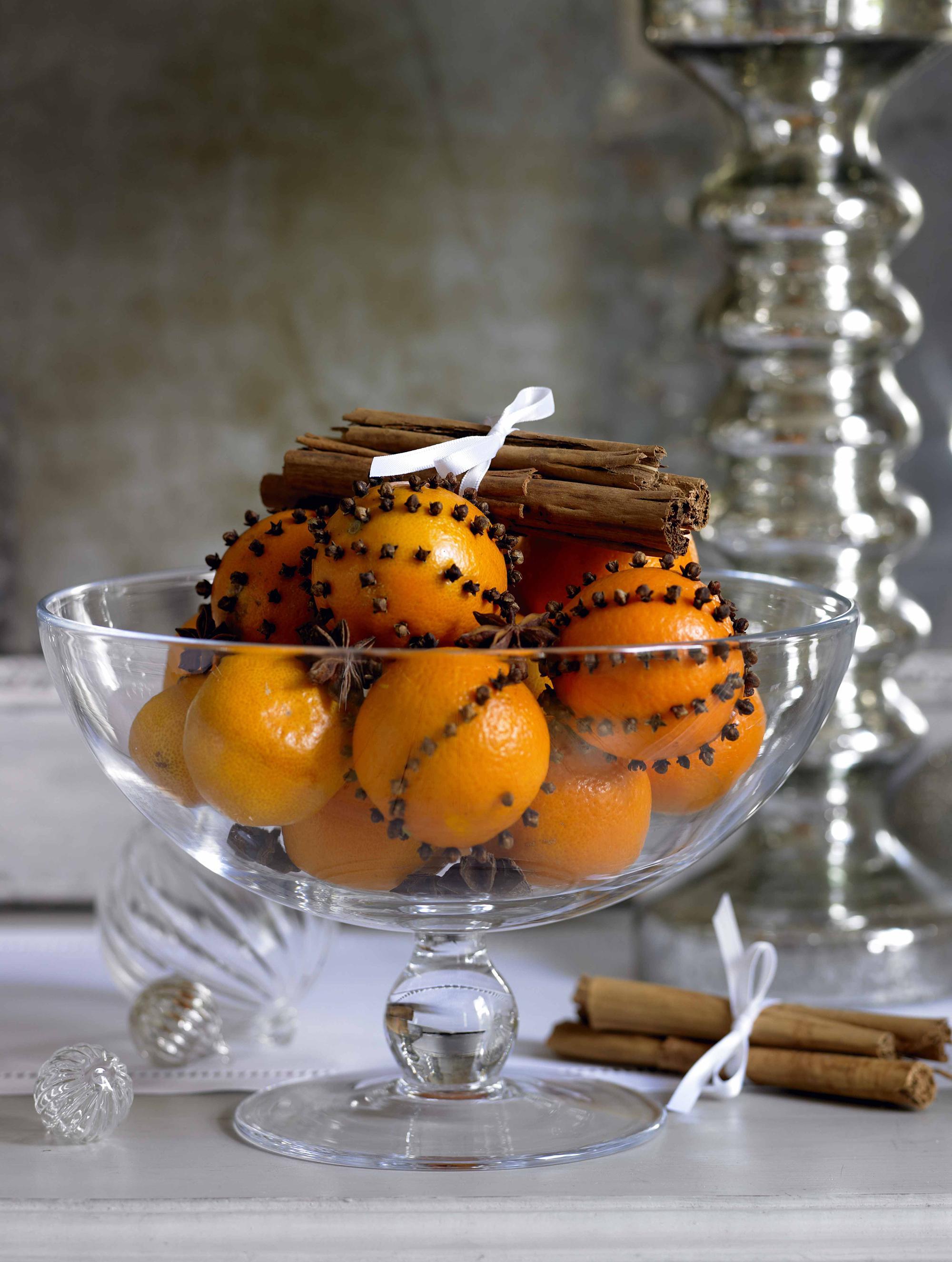 Оформление фруктов для новогоднего стола