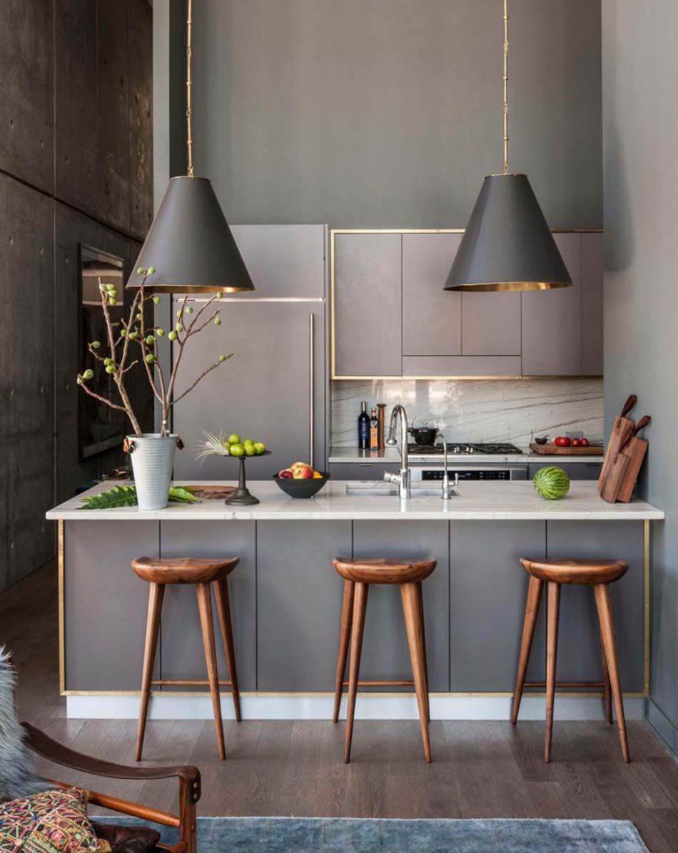 Кухня 7 кв м в стиле ретро