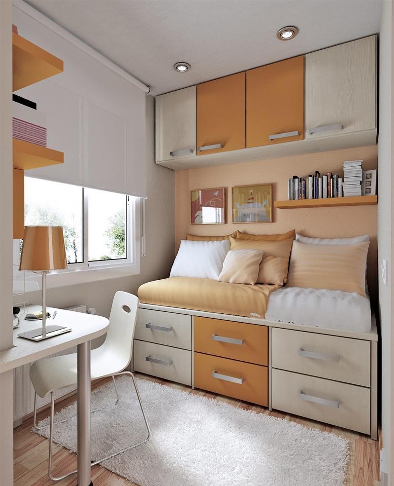Детская спальня с рабочим кабинетом