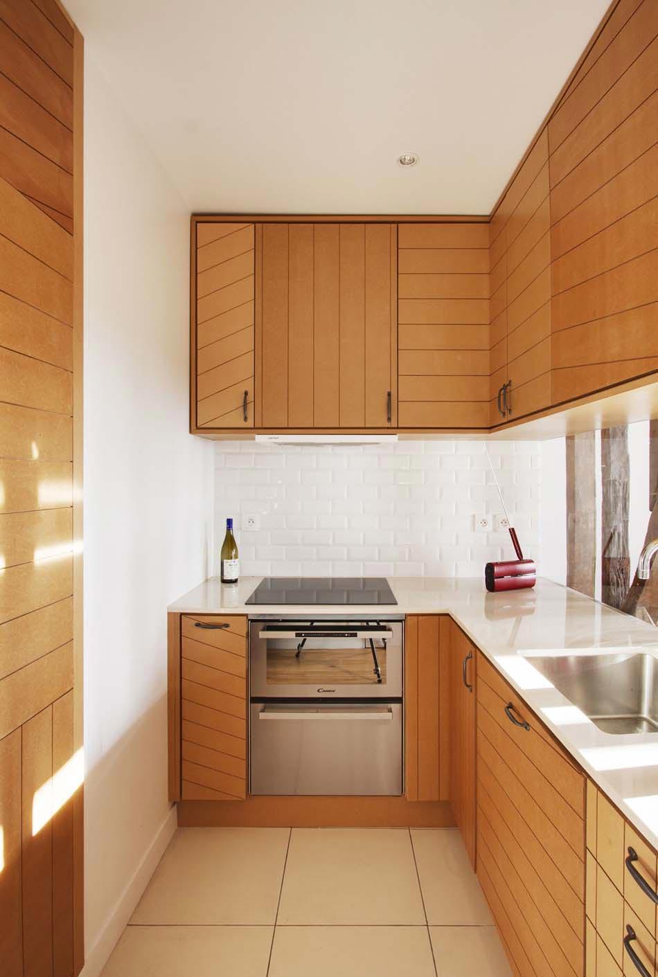 Кухня из дерева 7 кв м