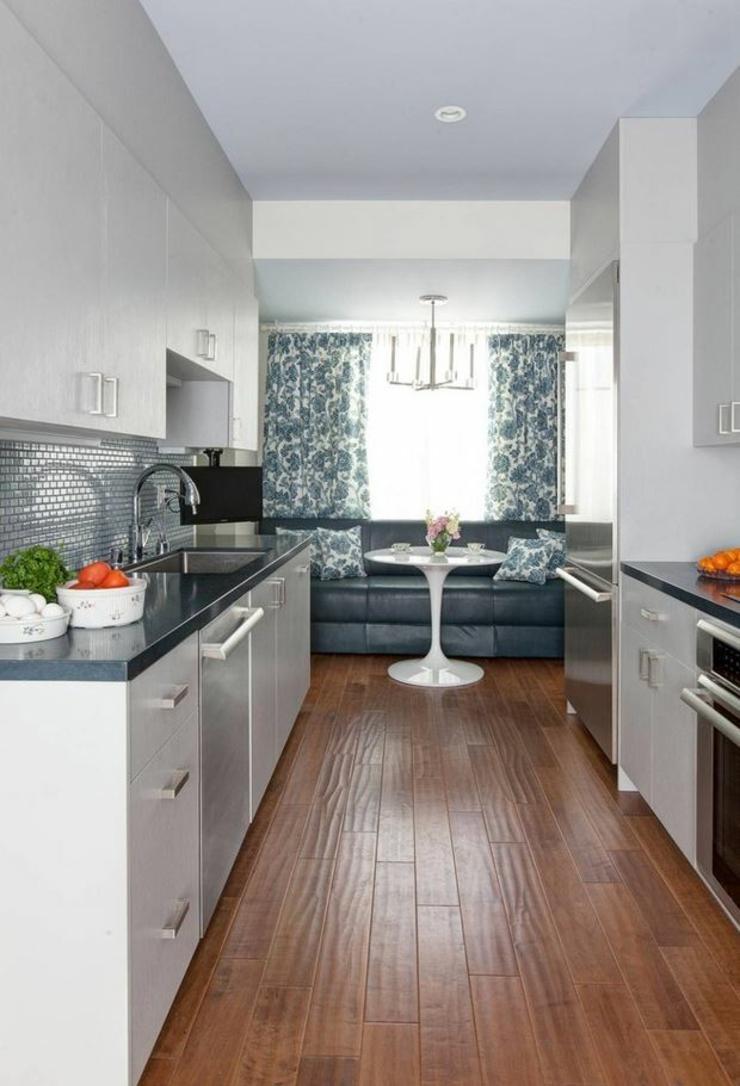 Кухня 7 кв м прямая
