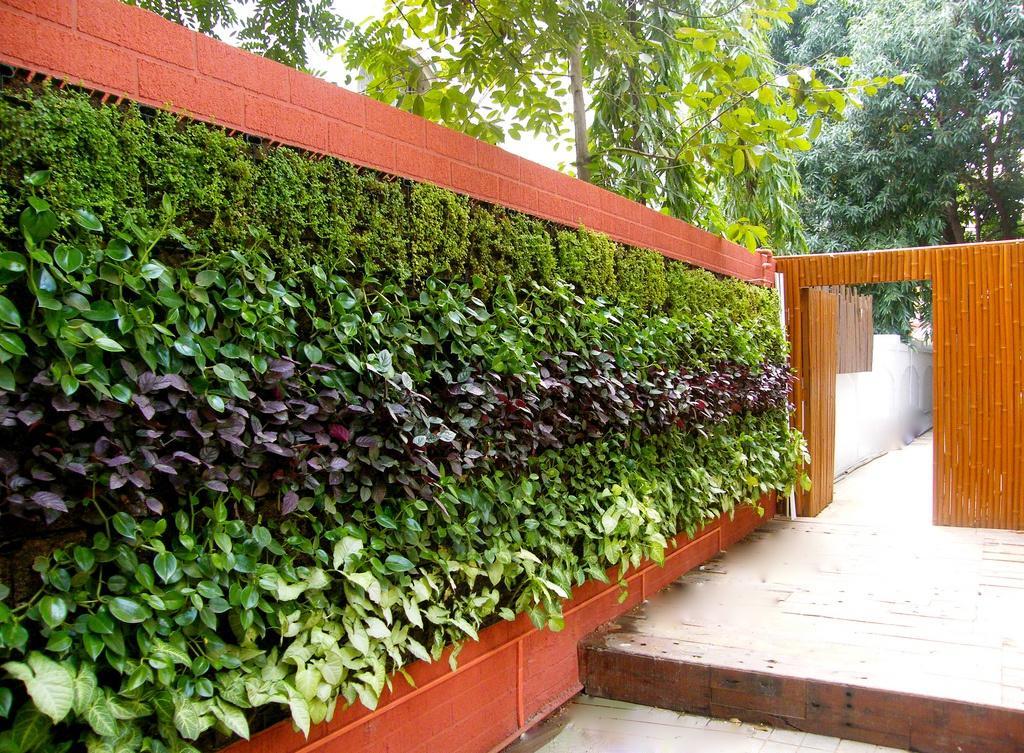 Вертикальная растительная клумба