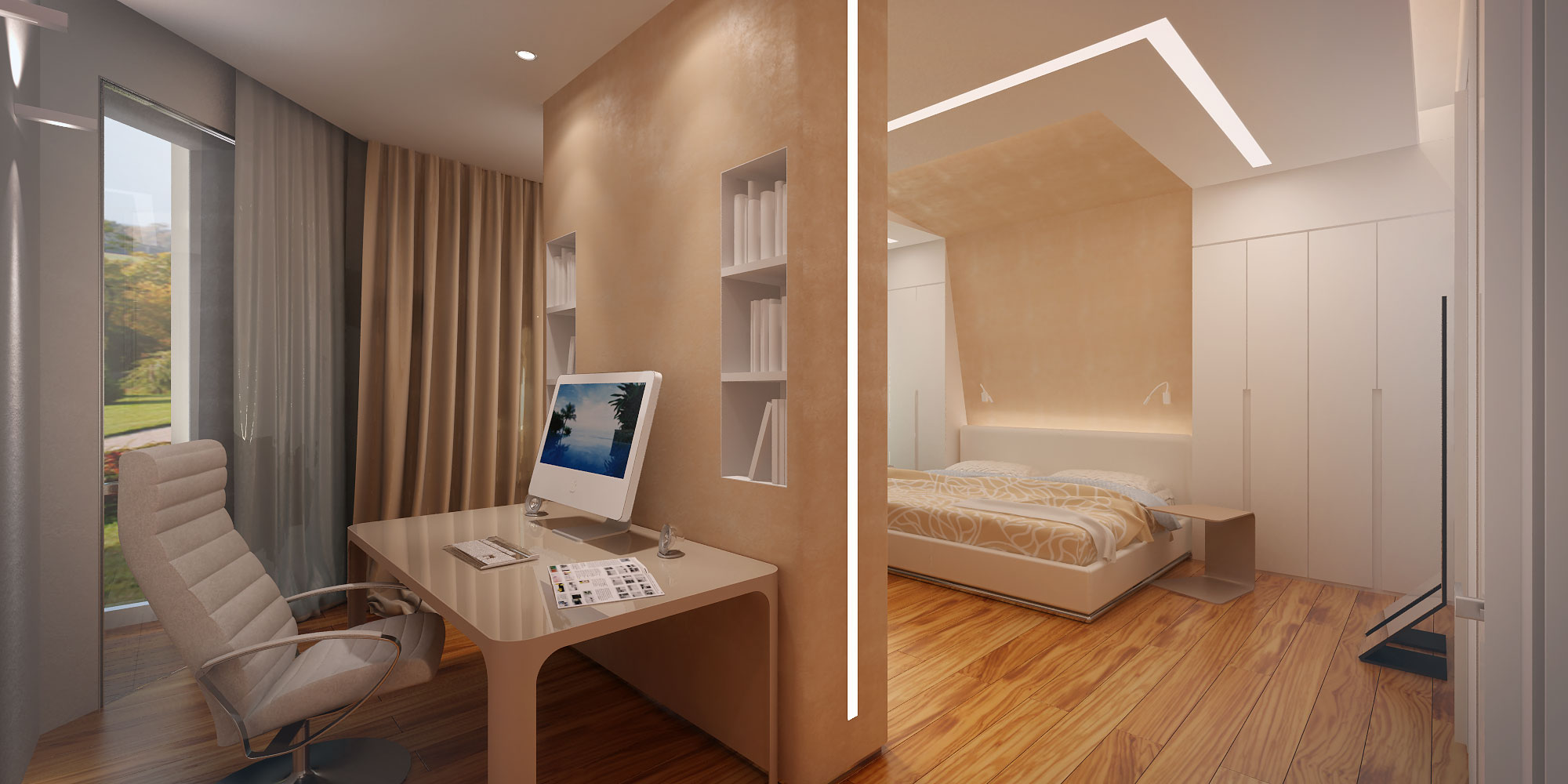 Перегородка в спальне