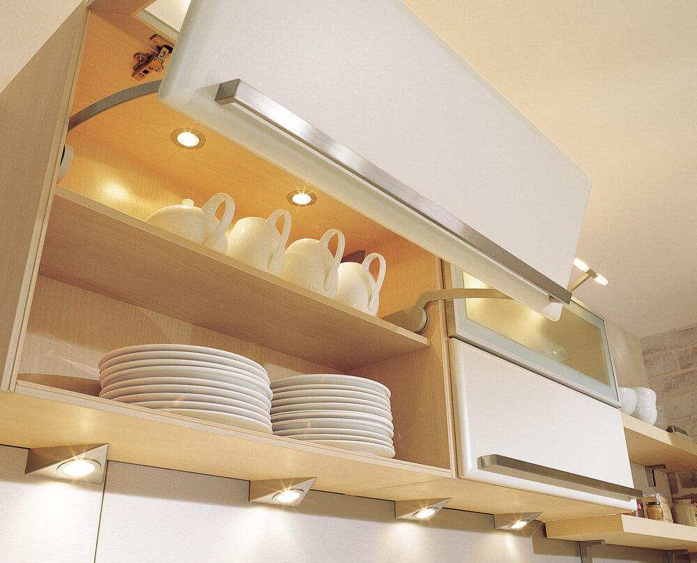 Освещение кухонных шкафов