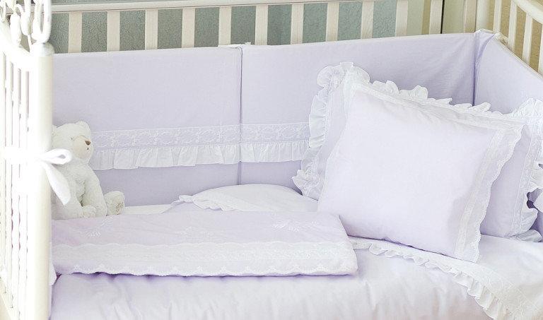 Детское постельное белье с оборками