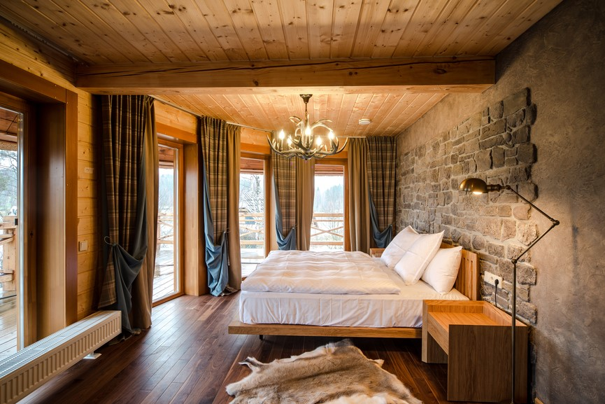 Спальня в стиле шале