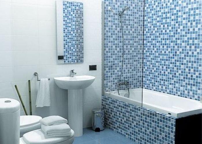 Ванная 9 кв м с мозаикой