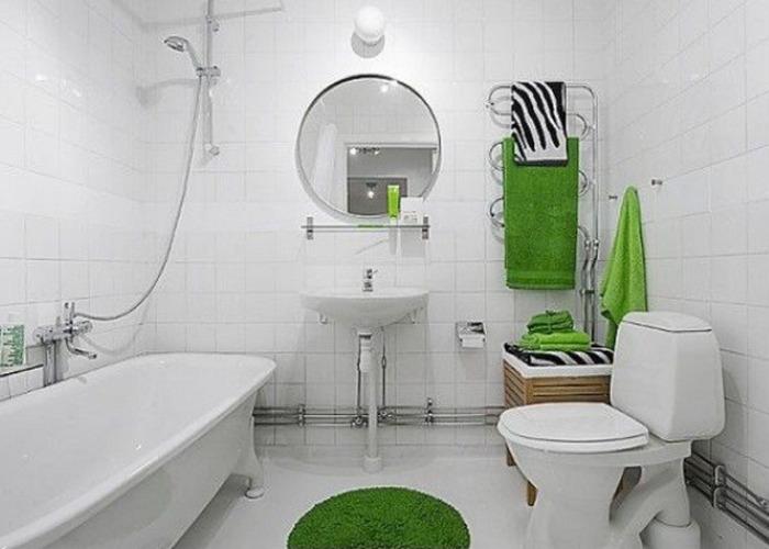 Ванная 9 кв м белая