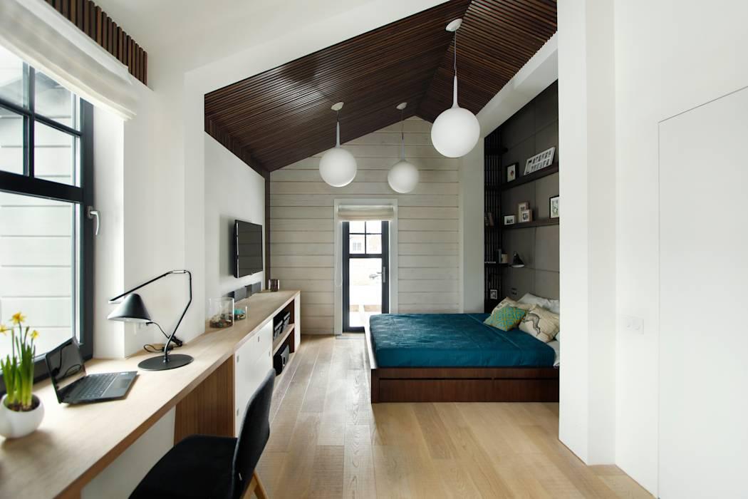Визуальное зонирование в спальне