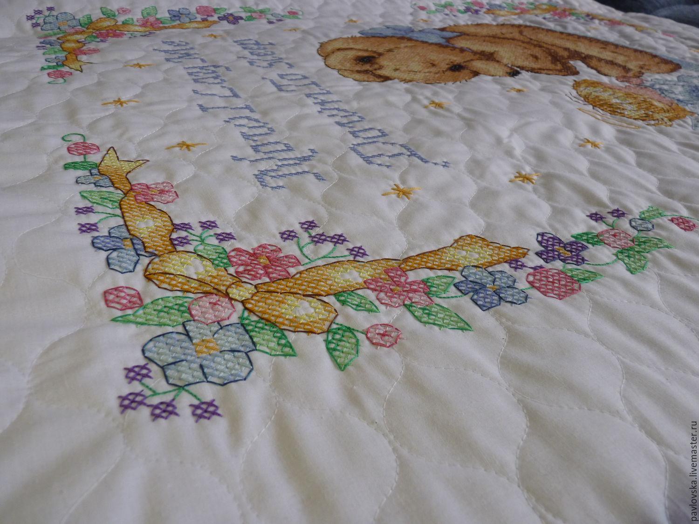 Детское постельное белье с вышивкой