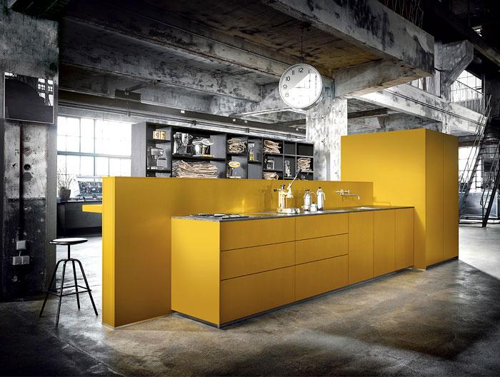 Дизайн кухни желтой