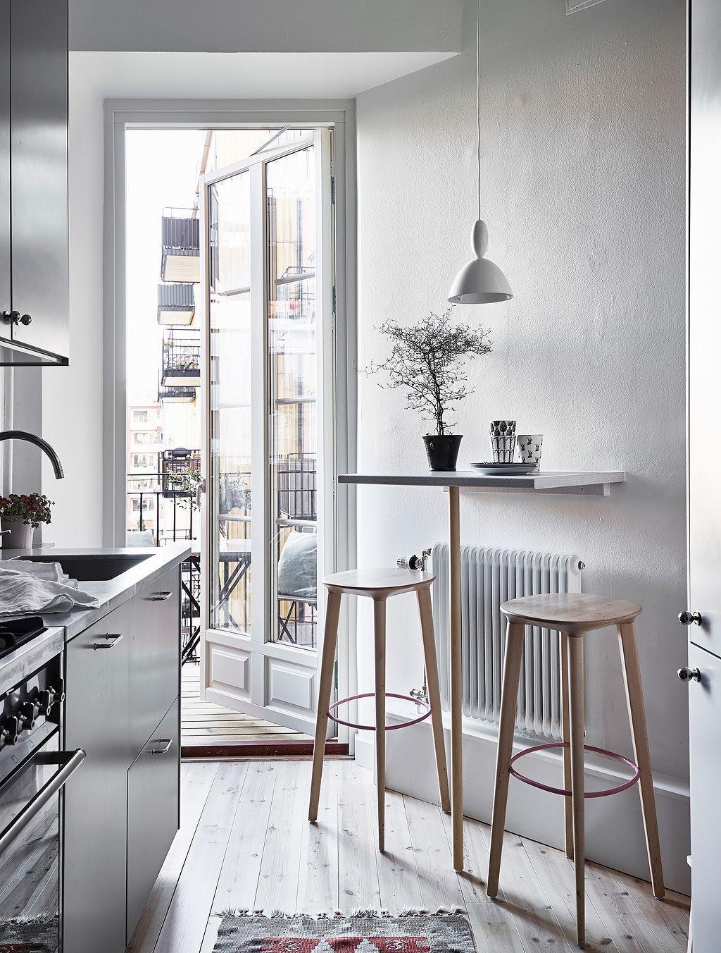 Дизайн кухни с барной стойкой для двоих