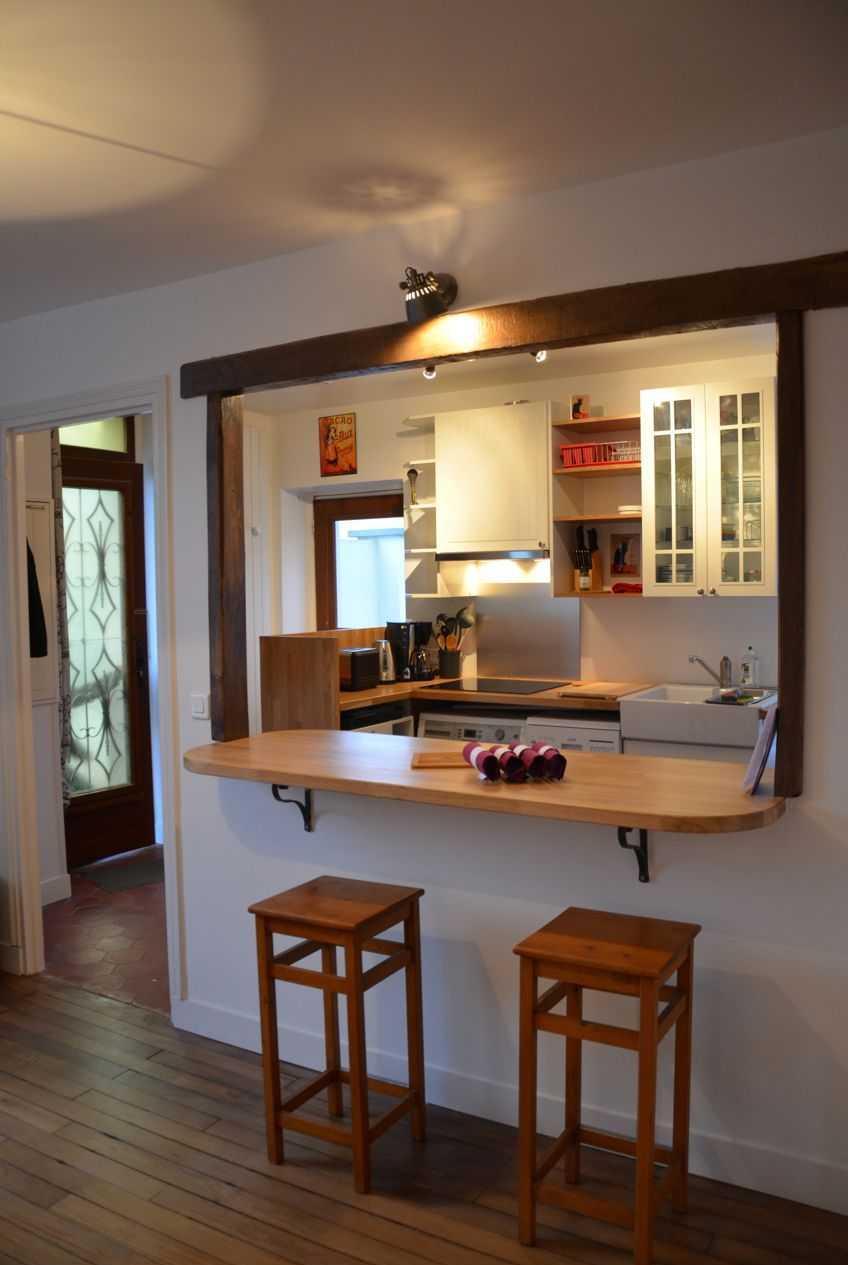 Дизайн кухни с барной стойкой перегородкой