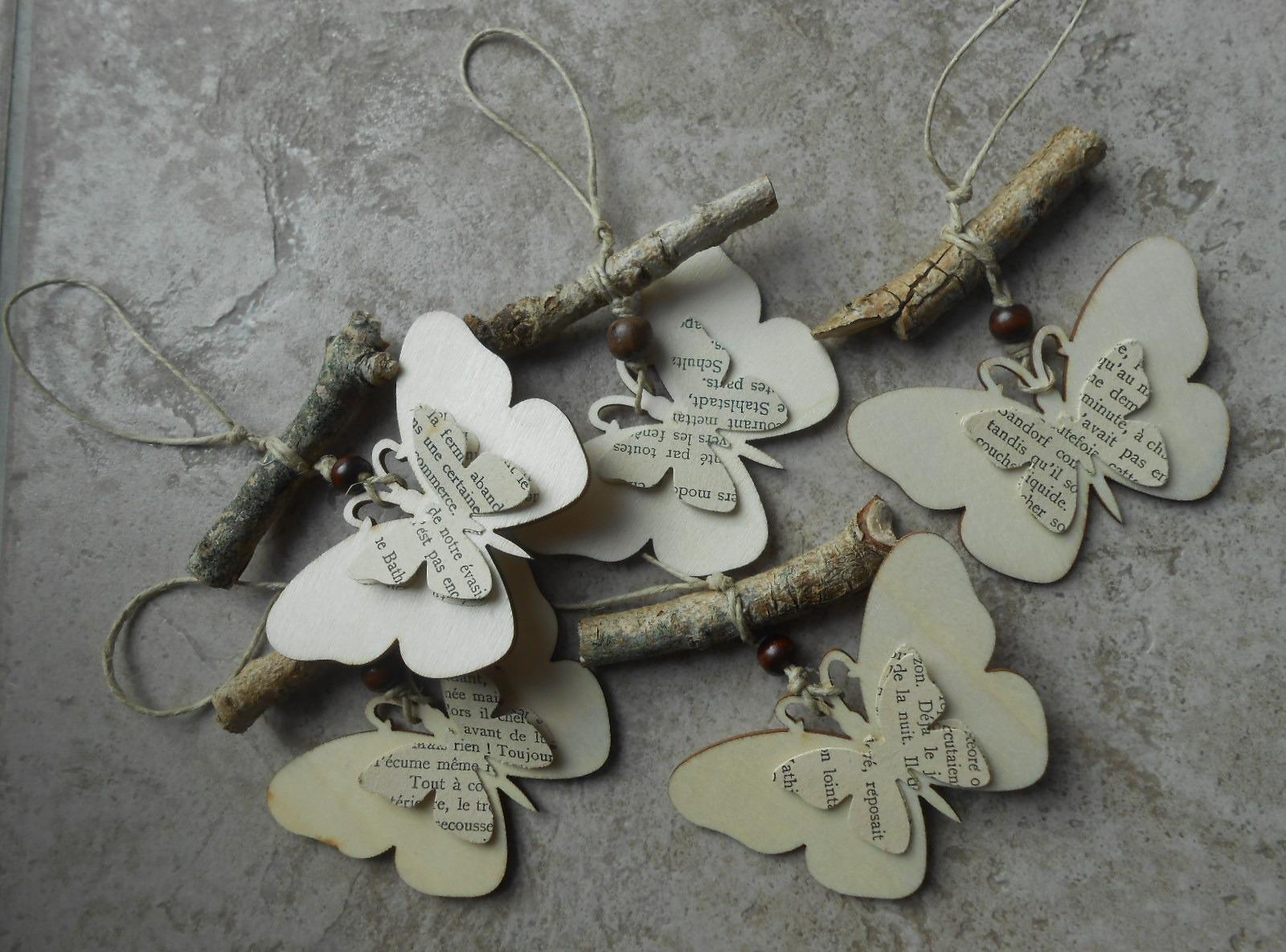 Бабочки для декора из газеты