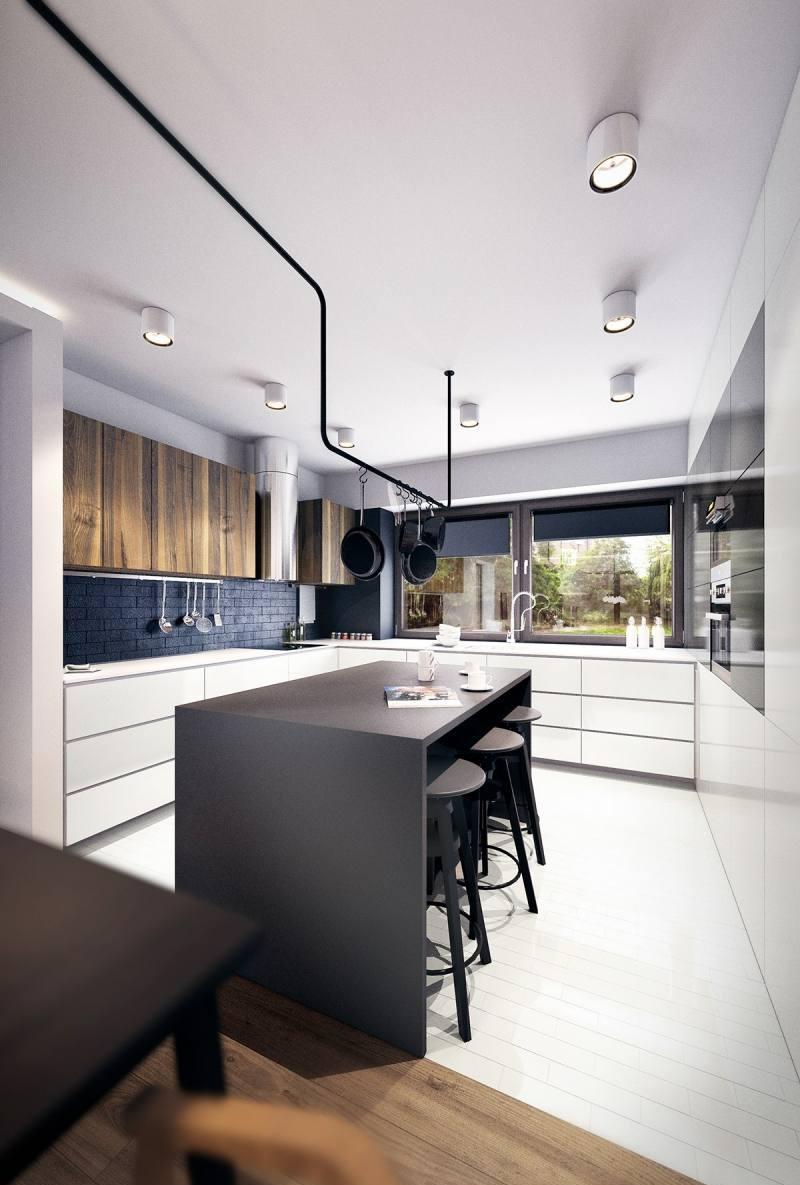 Дизайн кухни с барной стойкой лофт