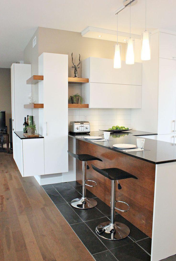 Дизайн кухни с барной стойкой угловой