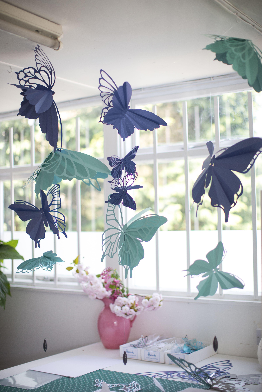 Бабочки из картона для декора