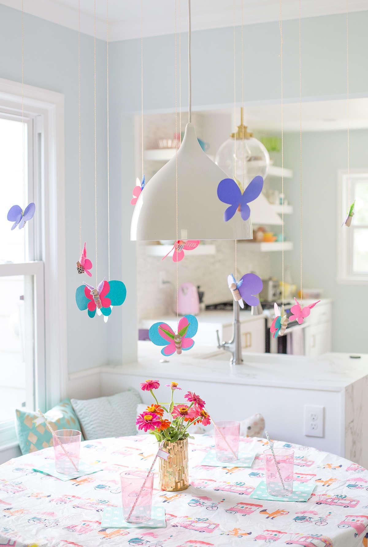 Подвесные бабочки для декора
