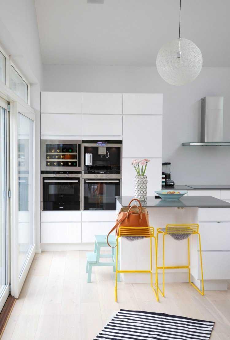 Дизайн кухни с барной стойкой модерн