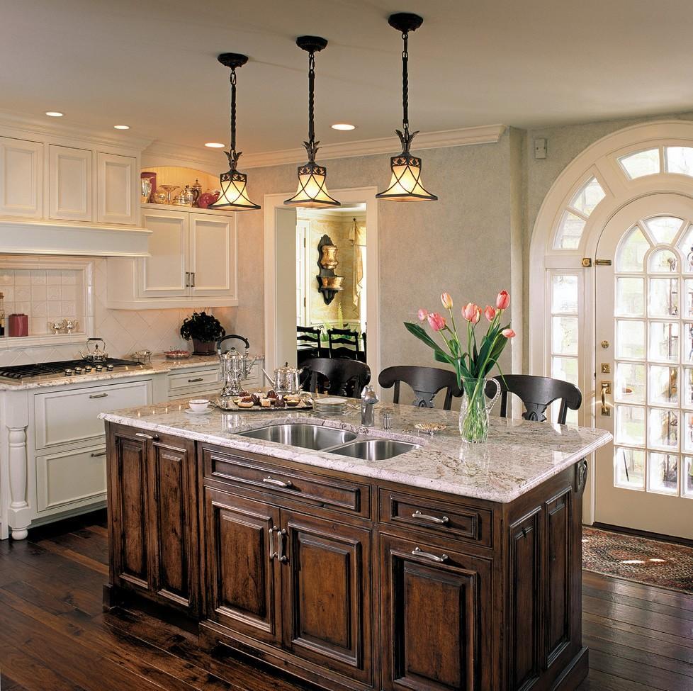 Дизайн кухни с барной стойкой классический