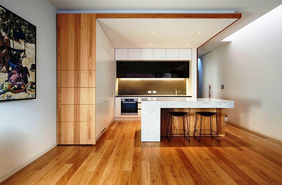 Дизайн кухни с барной стойкой большой