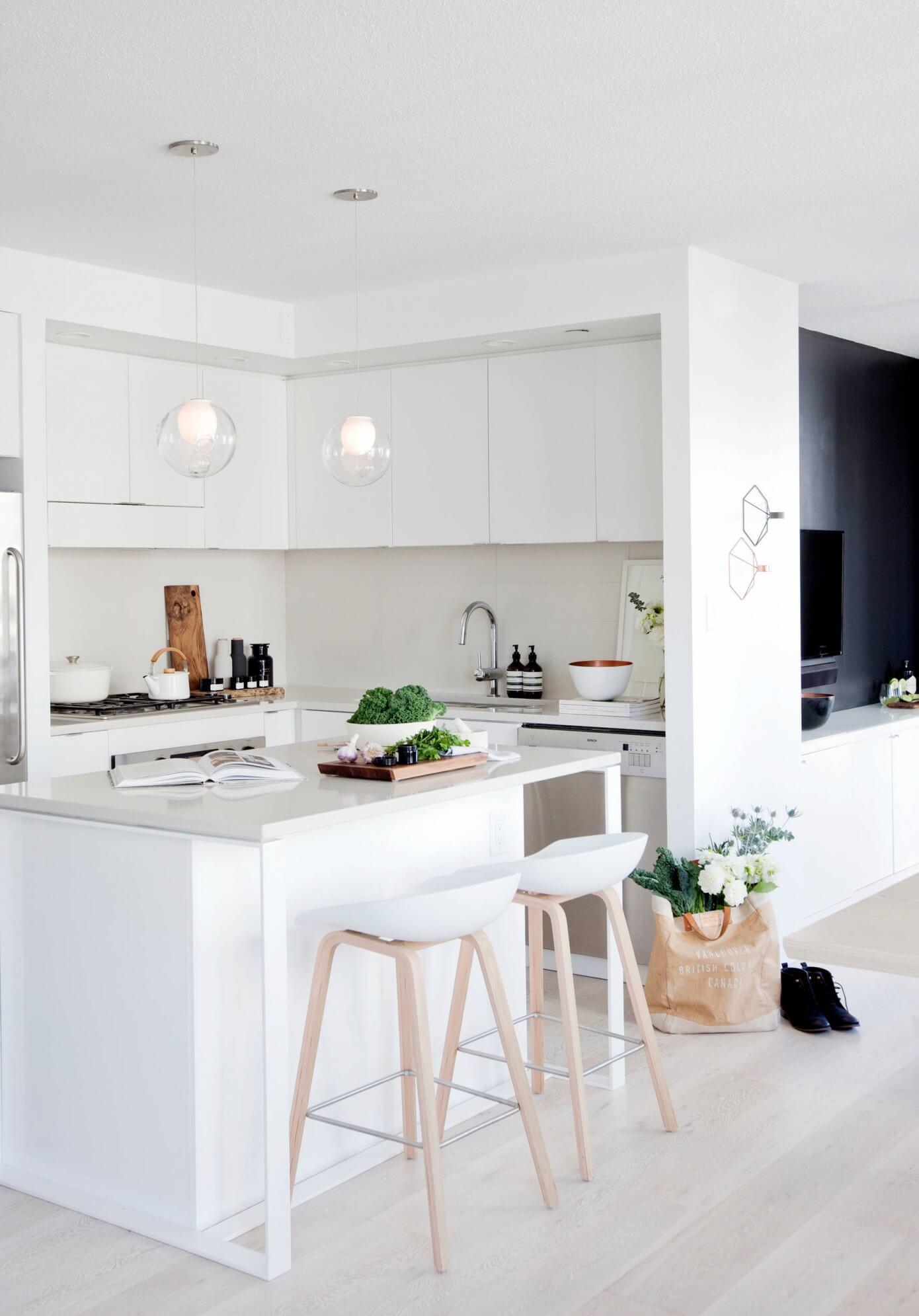 Дизайн кухни с барной стойкой небольшой