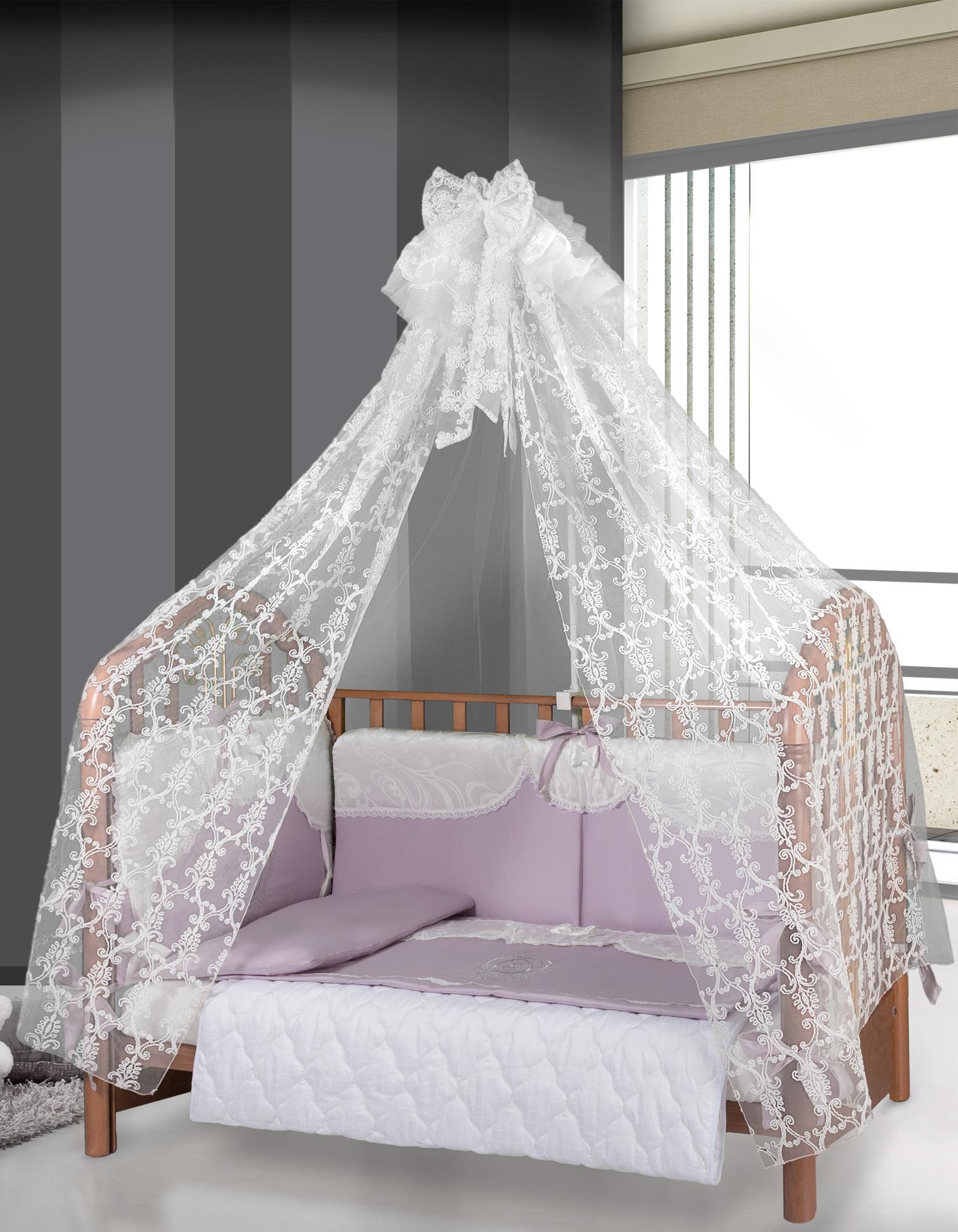 Прозрачный балдахин над детской кроваткой