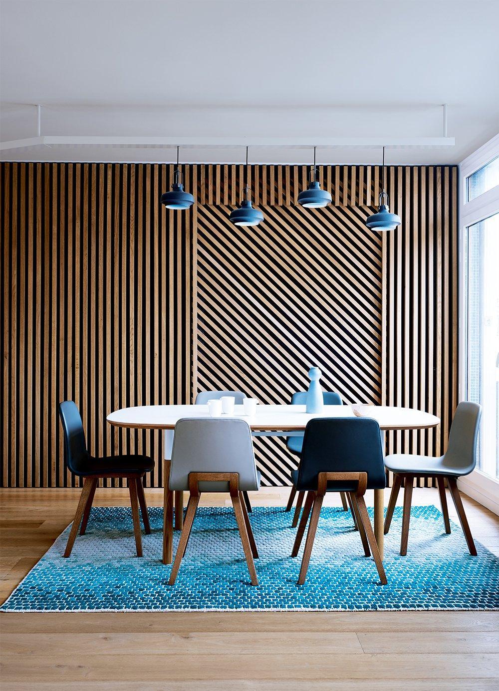 Голубая гостиная в стиле эко