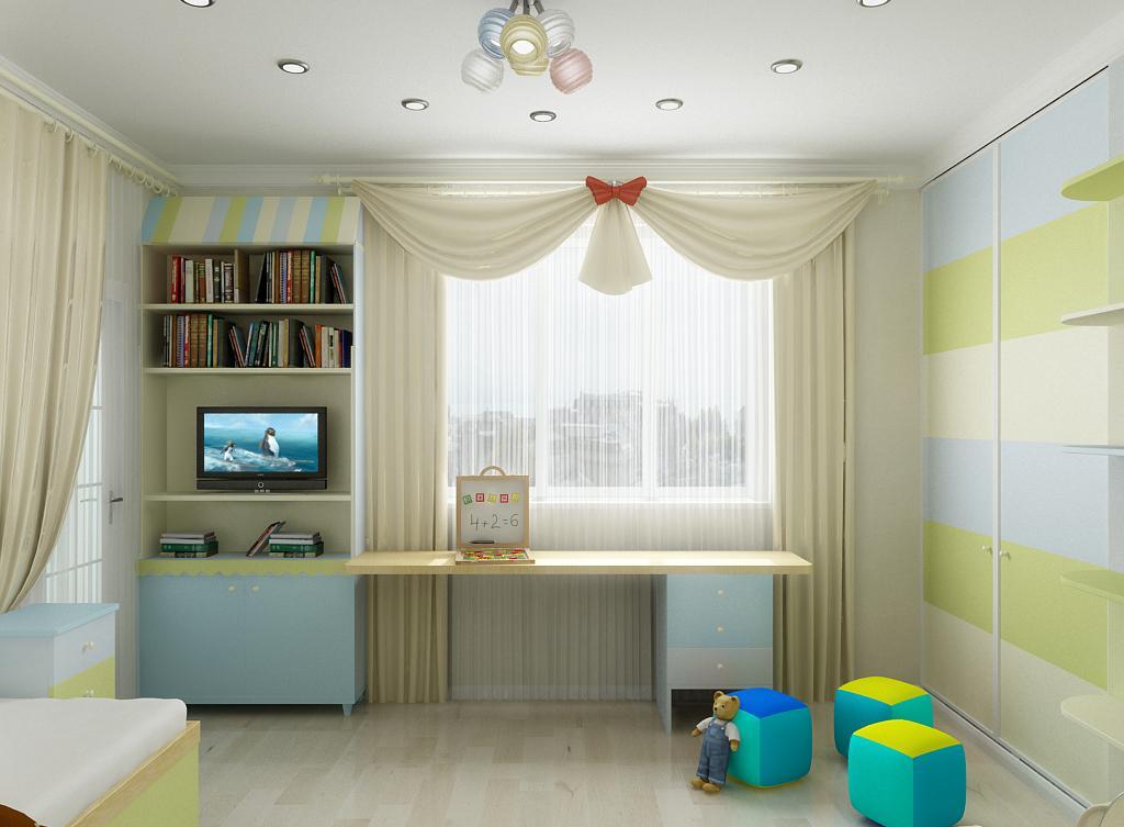 Детская комната в хрущевке светлая