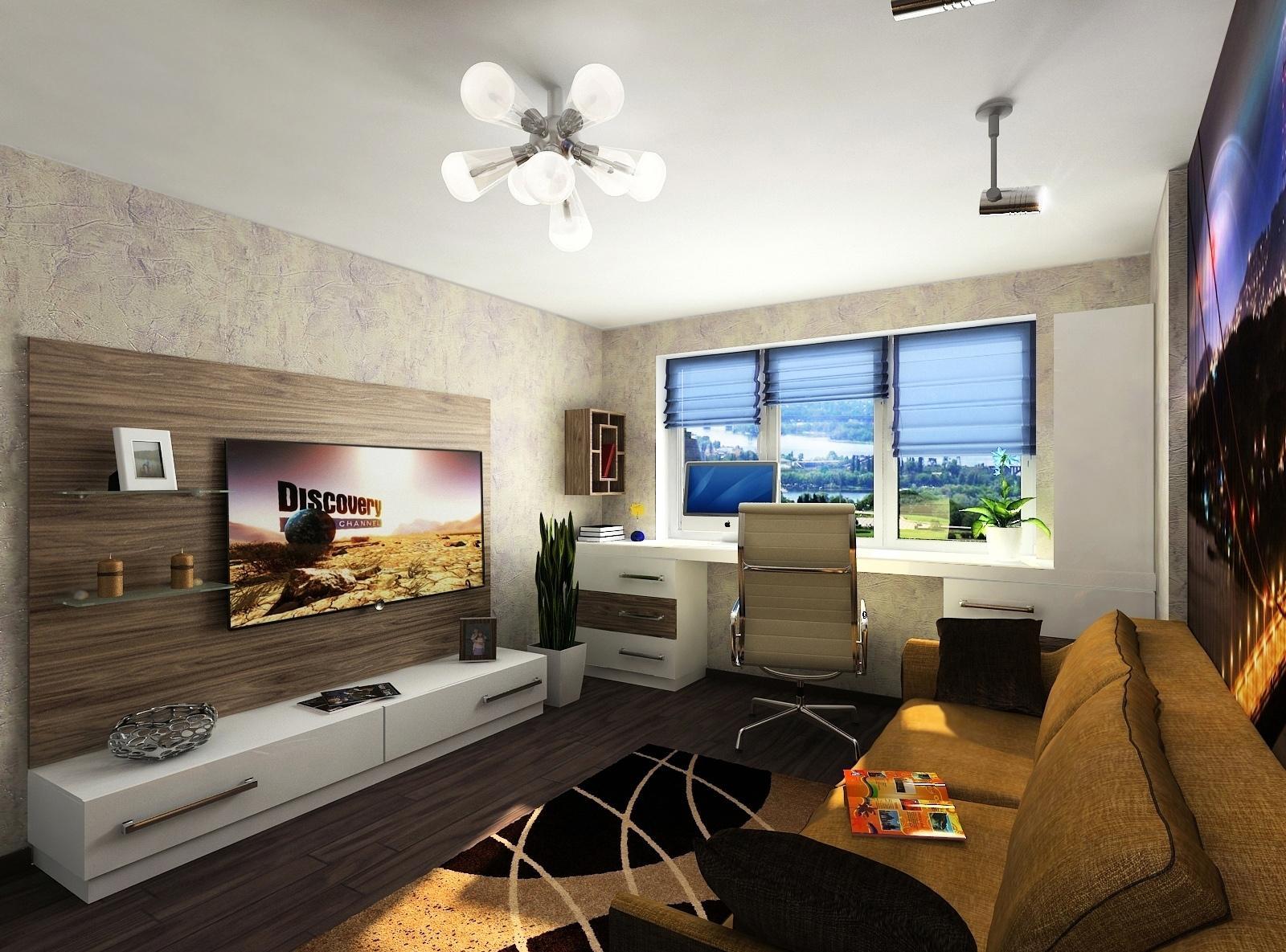 Маленькая комната для мальчика подростка с современным дизайном