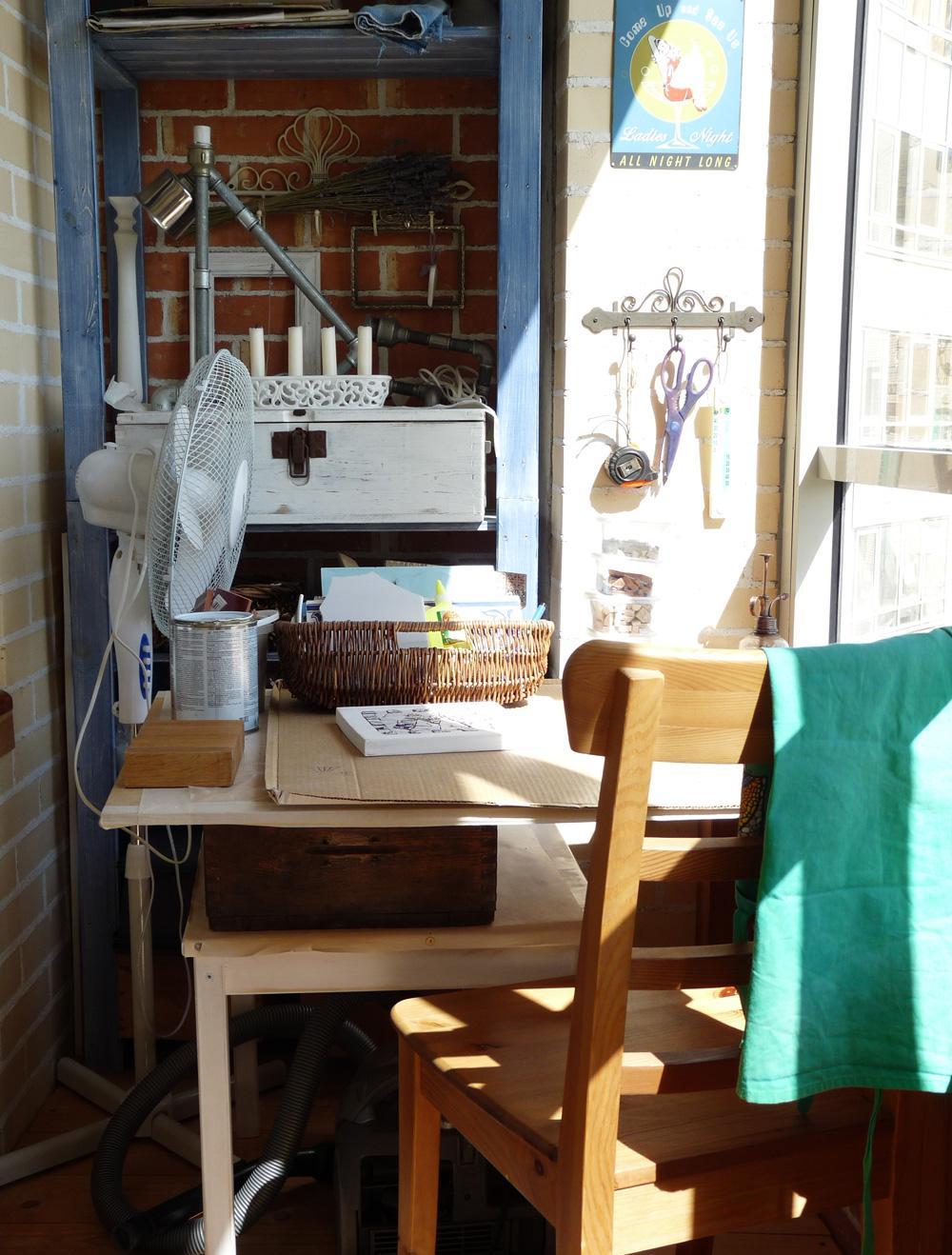 Балкон может служить личной мастерской