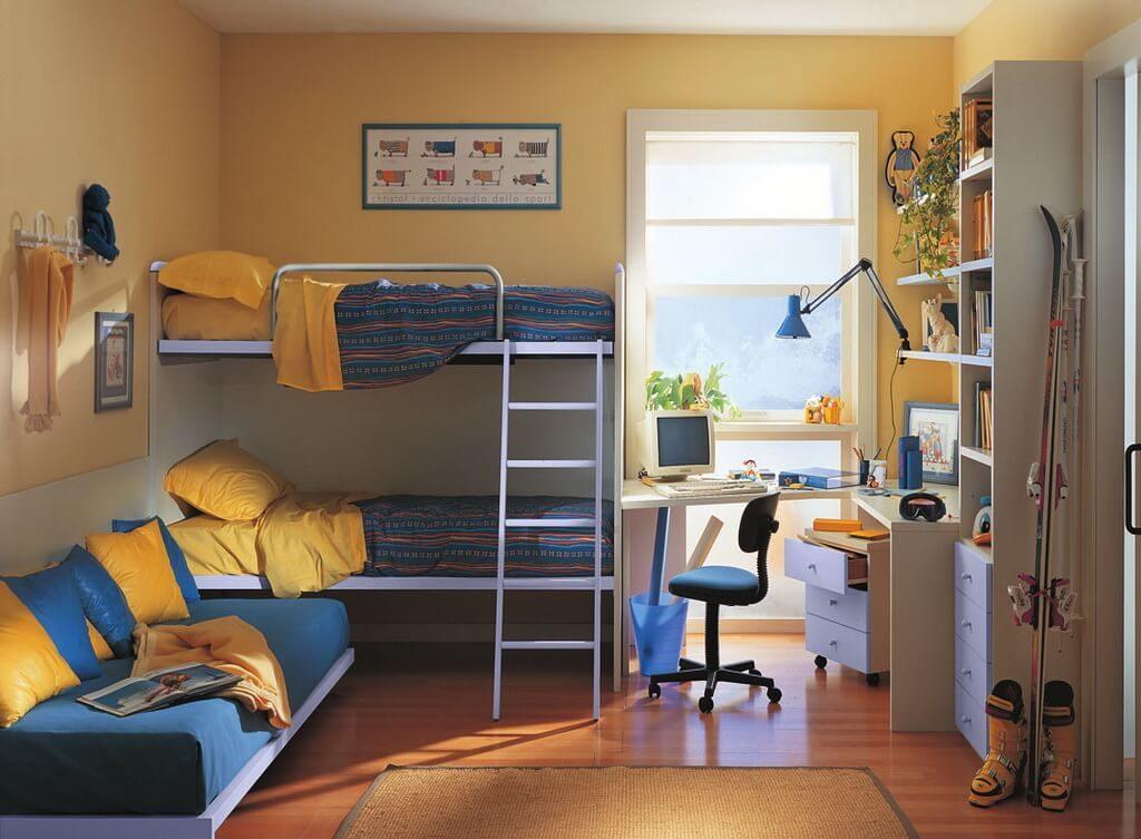 Детская комната в хрущевке для двоих