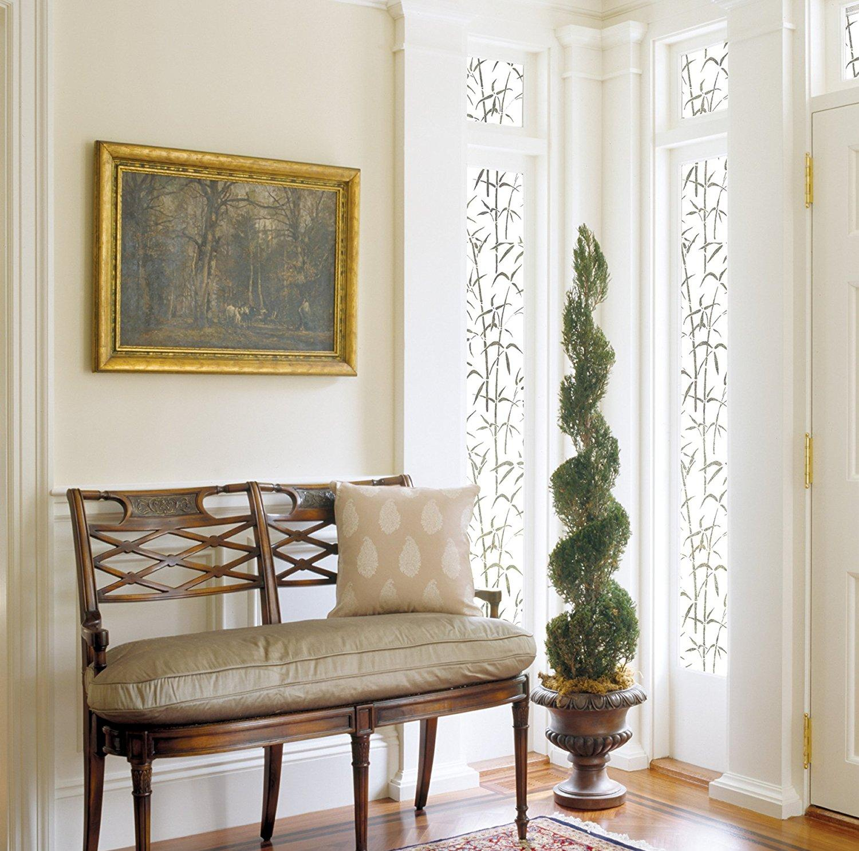 Витражная пленка на французское окно