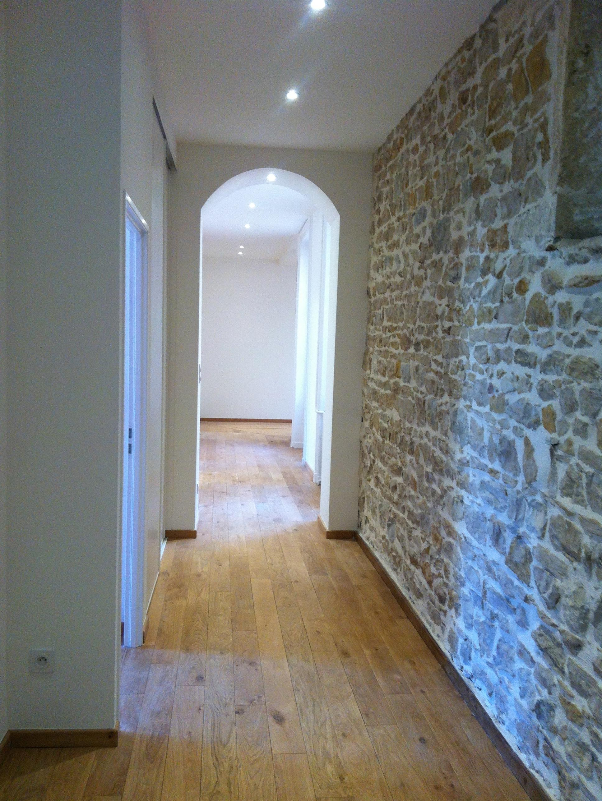 Дизайн коридора с аркой эллипсной