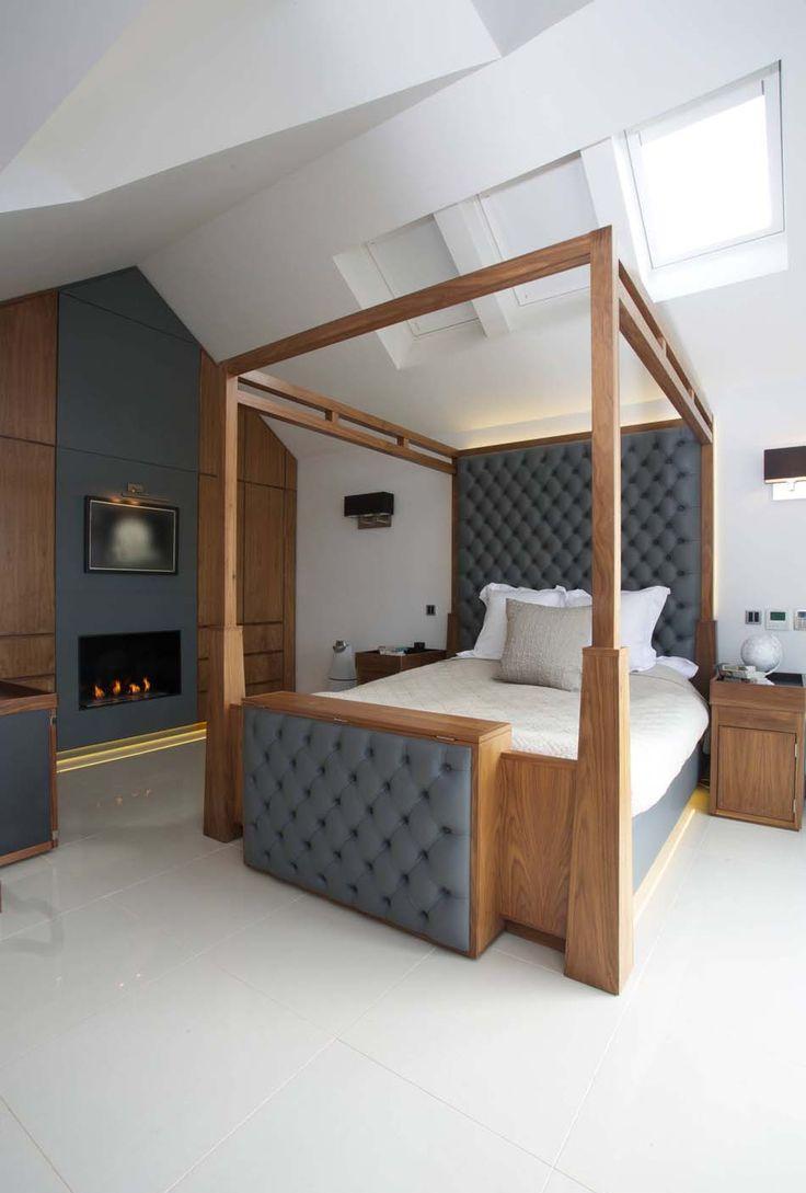 Балдахин над кроватью из кожи