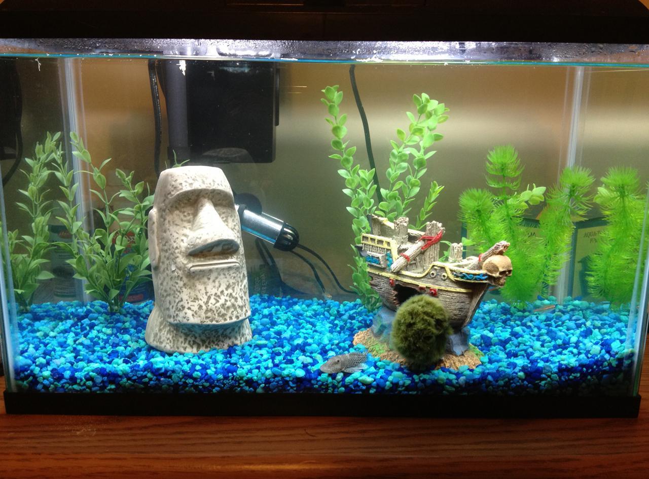 Декор для аквариума с кораблем