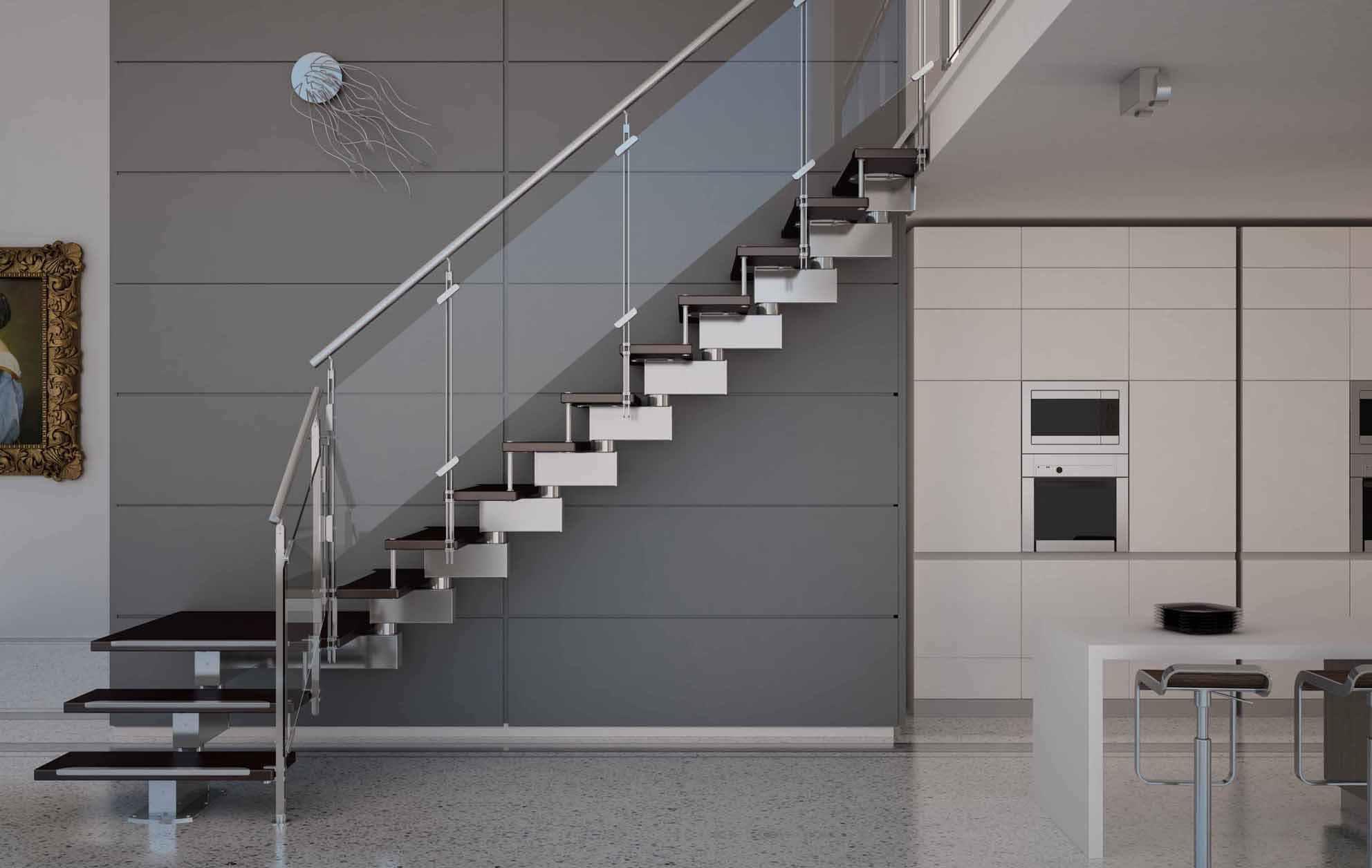 Поворотная металлическая лестница