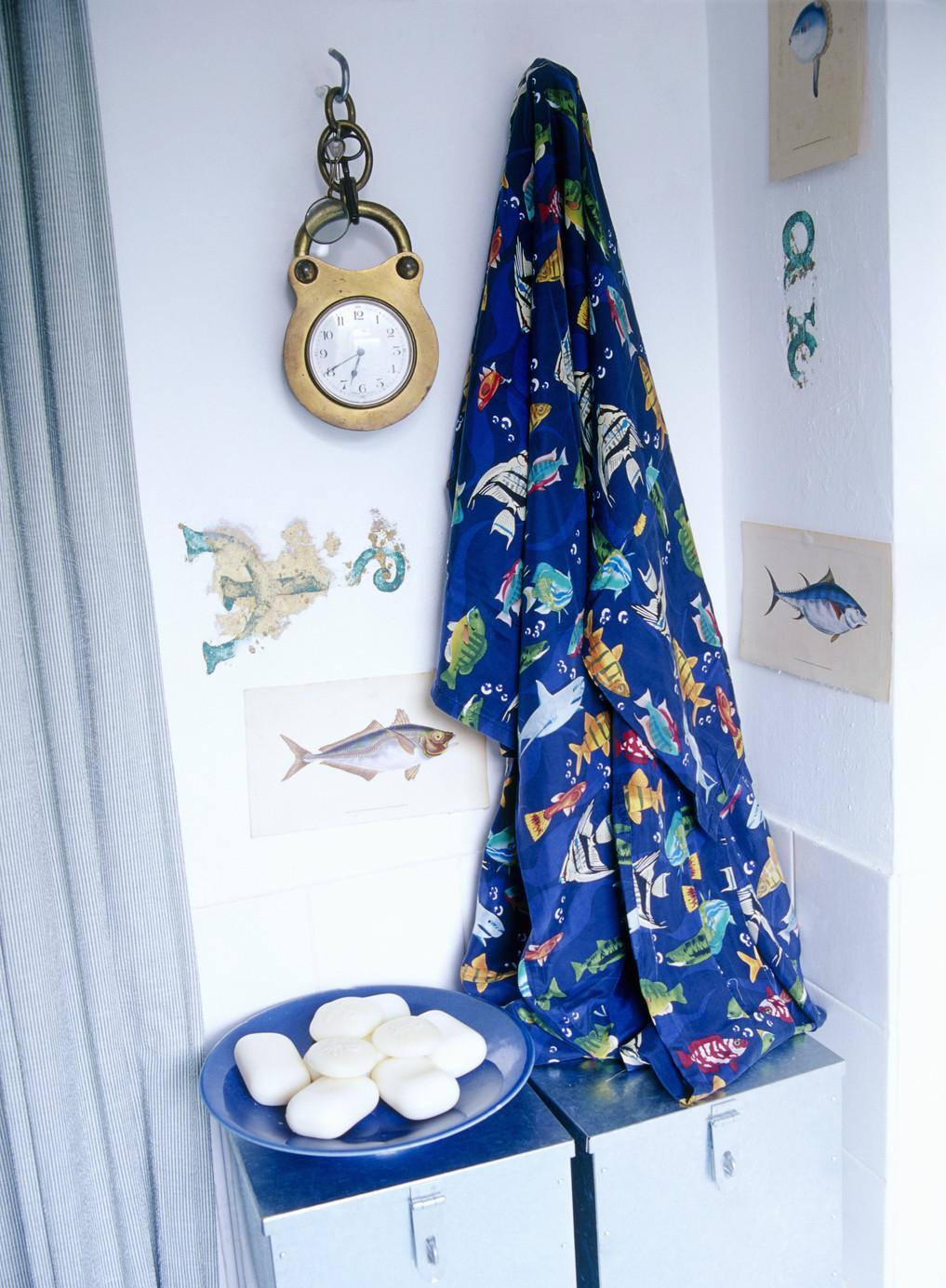 Морской декор в ванной
