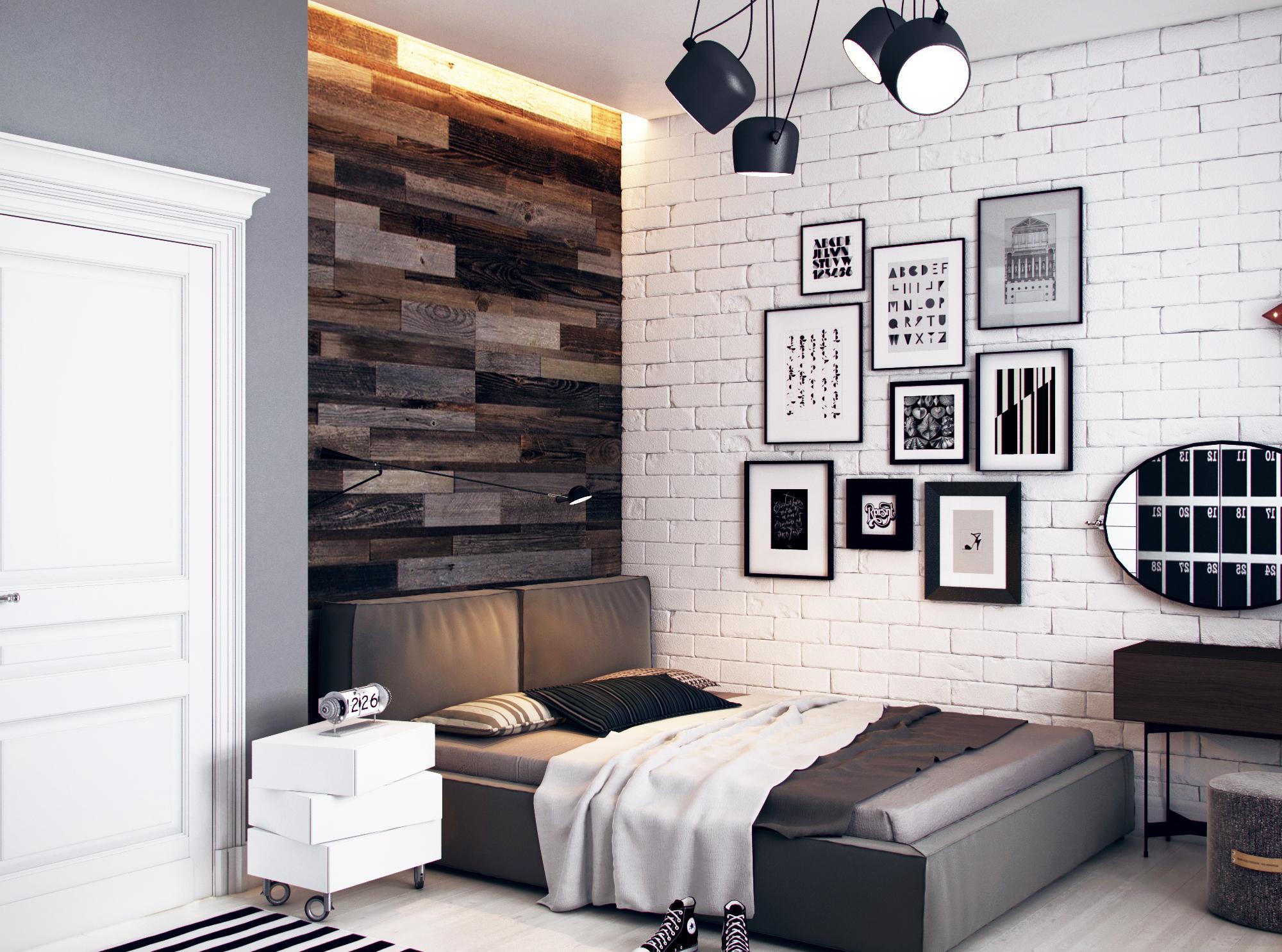 Комната для мальчика подростка с лаконичным дизайном