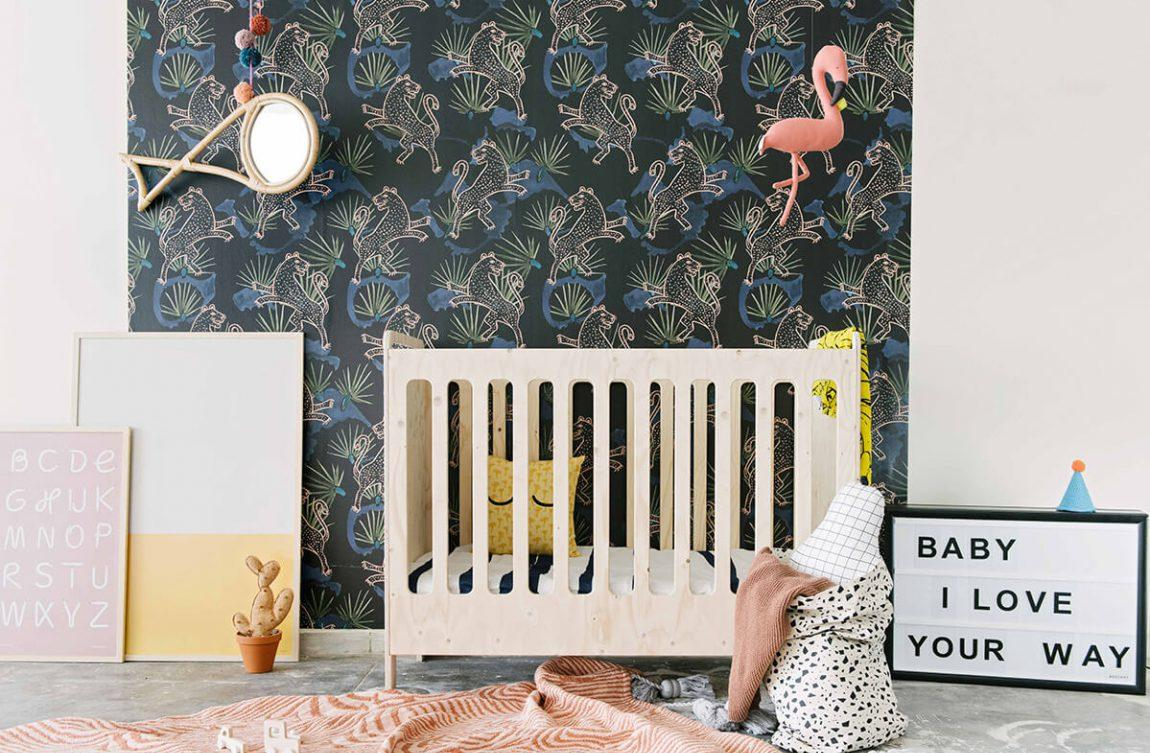 Эконом дизайн детской комнаты с обоями