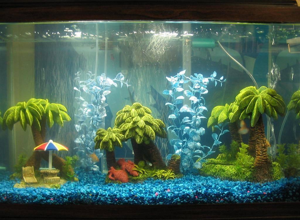 Декор для аквариума пальмы